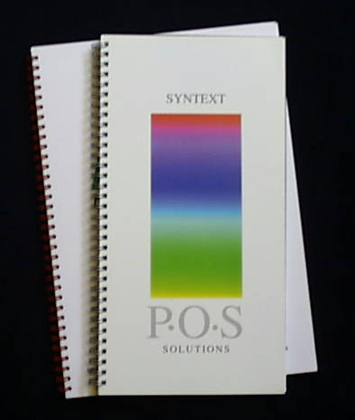 A sample of our work.  A sales brochure for Syntext Printers, Nottingham.